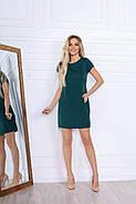Удобное женское платье прямого кроя на каждый день, 00672 (Бутылочный), Размер 48 (XL), фото 3