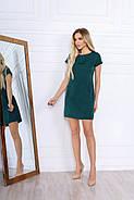 Удобное женское платье прямого кроя на каждый день, 00672 (Бутылочный), Размер 48 (XL), фото 4
