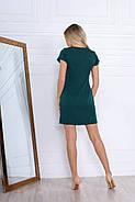 Удобное женское платье прямого кроя на каждый день, 00672 (Бутылочный), Размер 48 (XL), фото 6