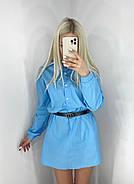 Универсальное платье-рубашка из коттона, 00530 (Голубой), Размер 46 (L), фото 2