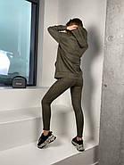 Удобный трендовий женский костюм замш на дайвинге, 00509 (Хаки), Размер 44 (M), фото 2