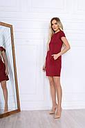 Короткое платье делового стиля с коротким рукавом, 00670 (Красный), Размер 42 (S), фото 4