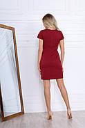 Короткое платье делового стиля с коротким рукавом, 00670 (Красный), Размер 42 (S), фото 5