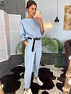 Стильный и модный женский костюм (брюки со стрелкой плюс кофта), 00714 (Голубой), Размер 42 (S), фото 3