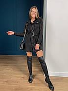 Практичне жіночне плаття на кнопках з поясом, 00502 (Чорний), Размер 48 (XL), фото 3