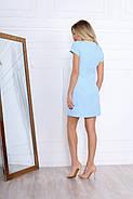 Практичне прямого крою жіноче плаття з коротким рукавом, 00669 (Голубий), Розмір 48 (XL), фото 5