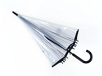 Прозрачный зонт с черной каймой