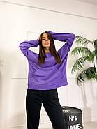 Стильний жіночий спортивний костюм двійка (світшоти, штани), 00586 (Фіолетовий), Размер 46 (L), фото 4