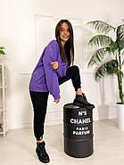 Стильний жіночий спортивний костюм двійка (світшоти, штани), 00586 (Фіолетовий), Размер 46 (L), фото 6