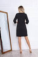 Класичне жіноче коротке плаття на змійці, рукав ¾, 00696 (Чорний), Розмір 44 (M), фото 2