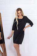 Класичне жіноче коротке плаття на змійці, рукав ¾, 00696 (Чорний), Розмір 44 (M), фото 3