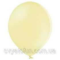 """Латексные шарики 10,5"""" макарун В85/450 лимонный желтый 50шт/уп BelBal"""