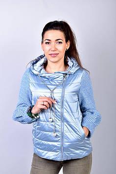 Куртка женская голубая демисезонная код П279