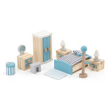 Дерев'яні меблі для ляльок Viga Toys PolarB Спальня (44035) (SV)