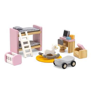 Дерев'яні меблі для ляльок Viga Toys PolarB Дитяча кімната (44036) (SV)