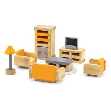 Дерев'яні меблі для ляльок Viga Toys PolarB Вітальня (44037) (SV)
