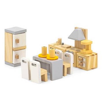 Деревянная мебель для кукол Viga Toys PolarB Кухня и столовая (44038) (SV)