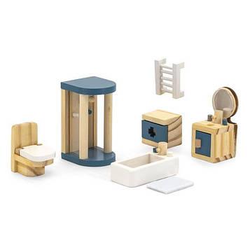 Дерев'яні меблі для ляльок Viga Toys PolarB Ванна кімната (44039) (SV)