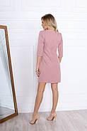Модное офисного стиля женское платья прямого кроя, 00697 (Пудровый), Размер 44 (M), фото 6