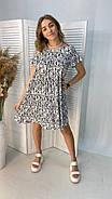Легке літнє плаття тренд 2021 року, 00555 (Білий), Размер 46 (L), фото 3