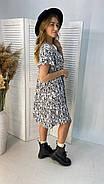Легке літнє плаття тренд 2021 року, 00555 (Білий), Размер 46 (L), фото 4