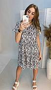 Легке літнє плаття тренд 2021 року, 00555 (Білий), Размер 46 (L), фото 5