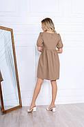 Стильне і модне жіноче плаття вільного крою до колін, 00674 (Бежевий), Розмір 46 (L), фото 6