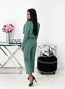 Жіночий костюм за останнім писком моди (жакет + штани), 00689 (Оливковий) ,Розмір 44 (M), фото 3