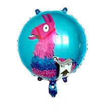 Фольгований повітряна куля лама фортнайт 45 см