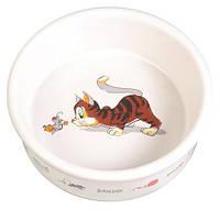 Керамическая миска для кошек Trixie, 0,2 л
