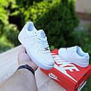 Чоловічі кросівки Nike Air Force 1 Білі натуральна шкіра, фото 5
