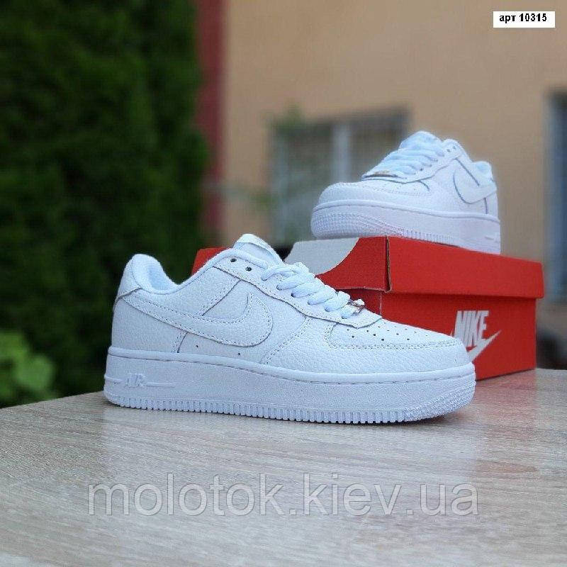 Чоловічі кросівки Nike Air Force 1 Білі натуральна шкіра