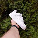 Чоловічі кросівки Nike Air Force 1 Білі натуральна шкіра, фото 3