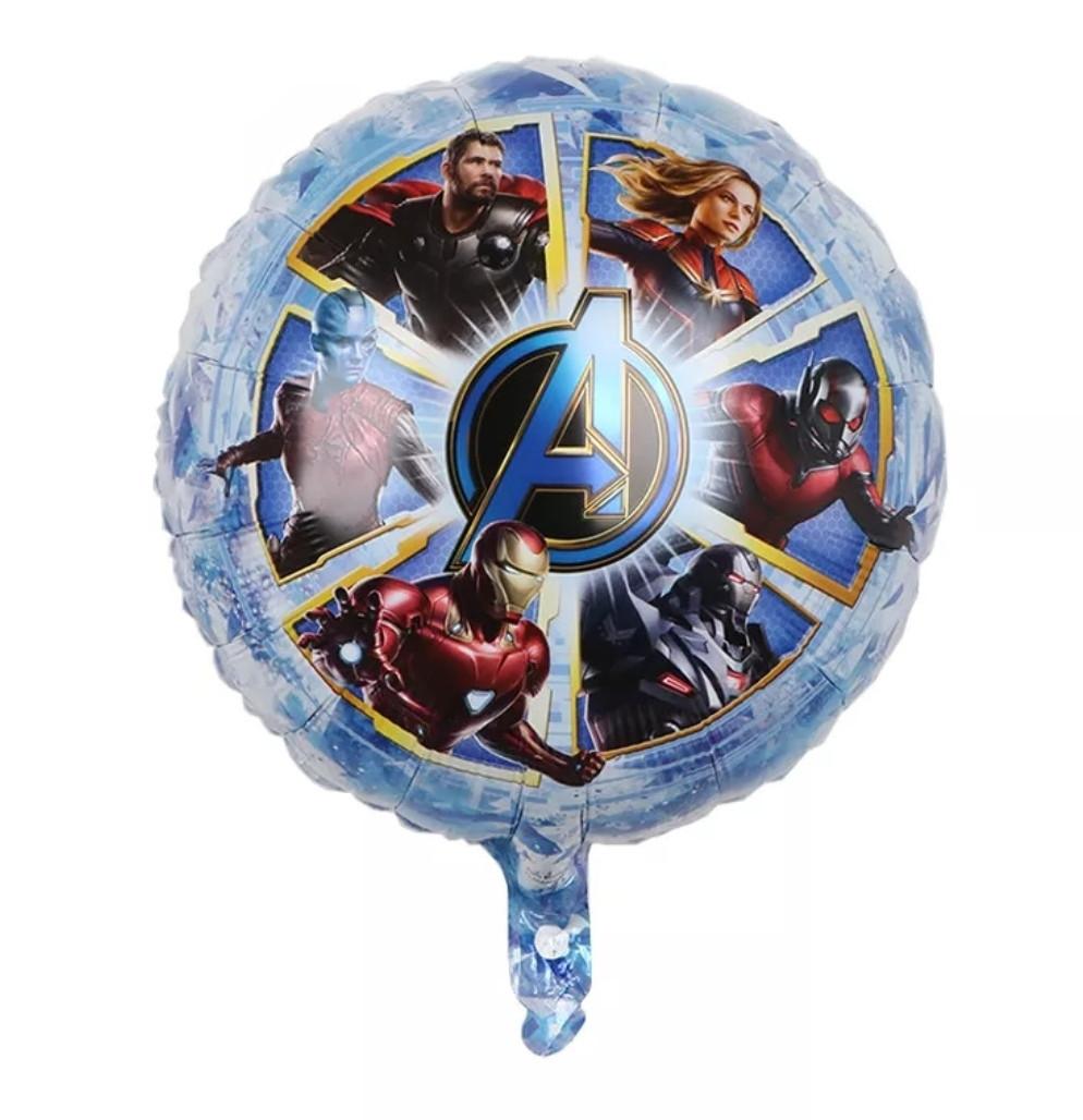 Фольгированный шар круглый мстители марвел супергерои 45 см