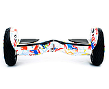Гироборд Smart Balance 10,5 дюймов Хип хоп белый самобаланс   гироскутер детский Смарт Баланс 10,5 до 120 кг, фото 6