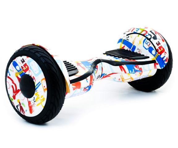 Гироборд Smart Balance 10,5 дюймов Хип хоп белый самобаланс   гироскутер детский Смарт Баланс 10,5 до 120 кг