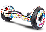 Гироборд Smart Balance 10,5 дюймов Хип хоп белый самобаланс   гироскутер детский Смарт Баланс 10,5 до 120 кг, фото 3
