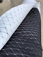 """Прошита штучна тканина під шкіру для автомобілів дублированая синтепоном. """"ромб"""". Турецького виробництва., фото 1"""