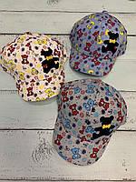 Кепка дитяча для хлопчиків х/б Ведмедики вік 1-3 роки розмір 46 см, кольору при замовленні вказуйте, фото 1