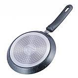 Сковорода млинна з гранітним антипригарним покриттям d=20 см Kamille KM-4204GR, фото 2