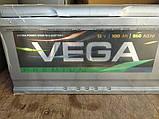 Акумулятор АКБ VEGA Premium 100Ah 850A, фото 2