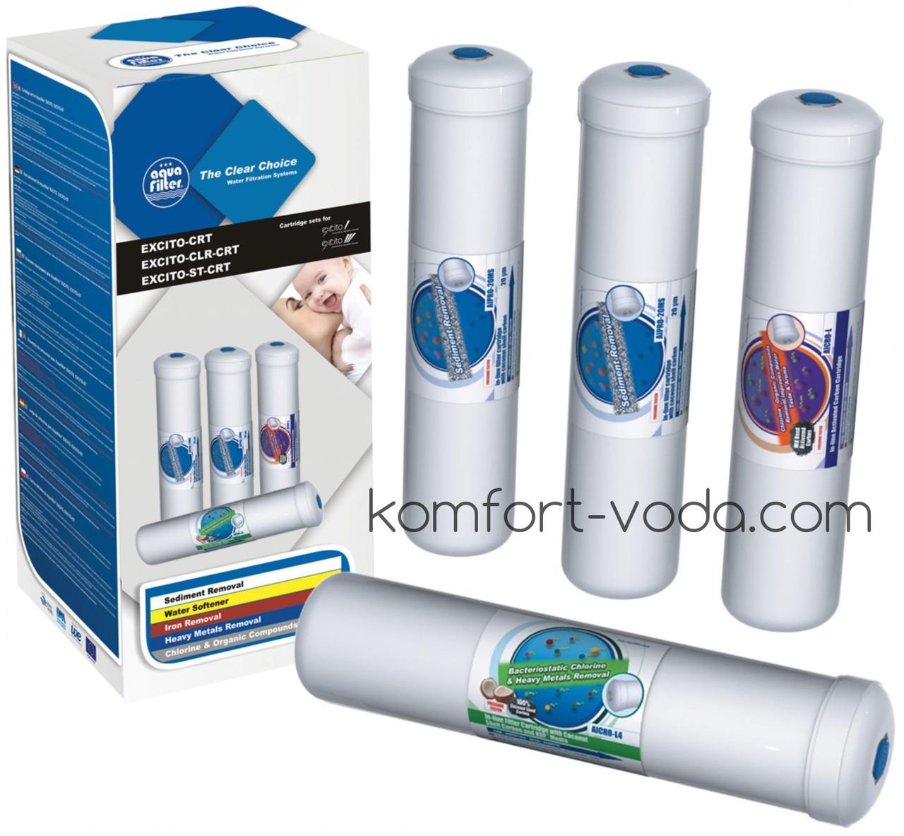 Комплект линейных картриджей Aquafilter EXCITO-CRT