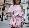 Женское стильное приталенное женское платье с длинным рукавом