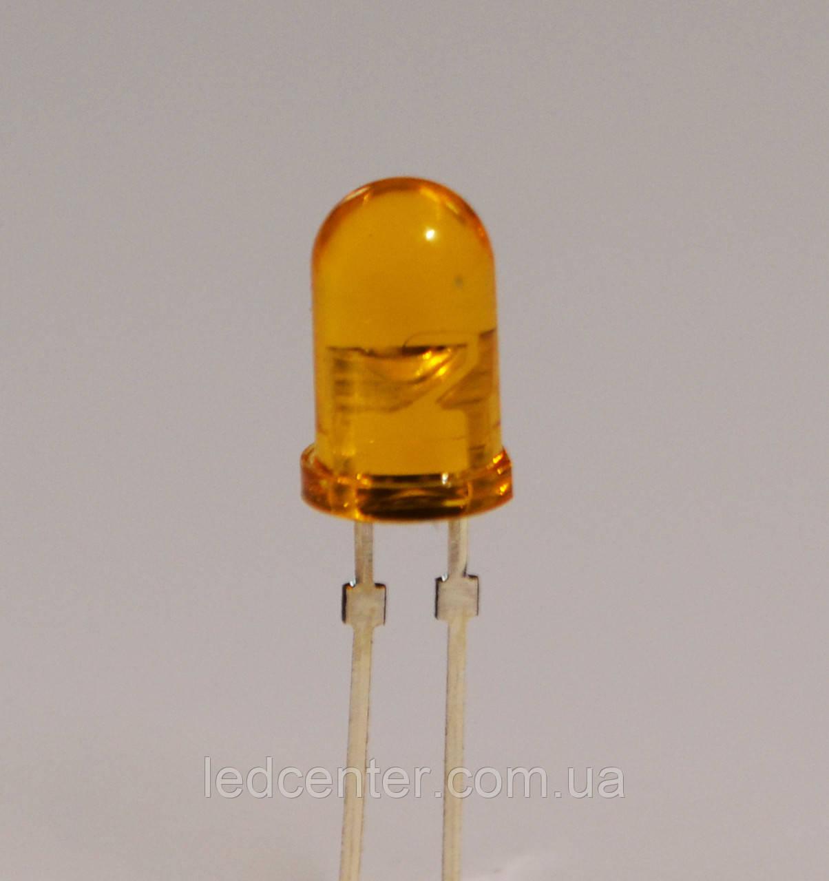 Выводной светодиод 5мм (оранжевый)