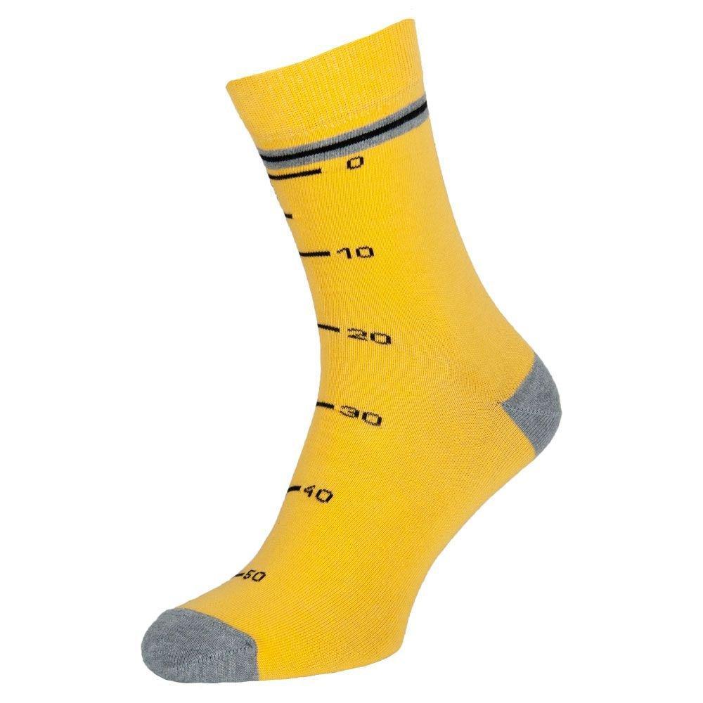 """Носки мужские цветные из хлопка, жёлто-серый """"Мастер"""""""