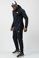 Спортивный костюм мужской тонкий (весна-лето-осень) c капюшоном синий