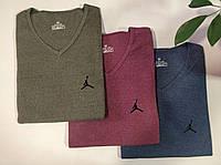 Футболка мужская хлопковая Jordan размер норма 44-50, цвет уточняйте при заказе, фото 1