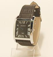 Часы наручные  на  ремешке мужские  квадратные