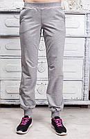 Спортивные штаны цвет меланж на манжете
