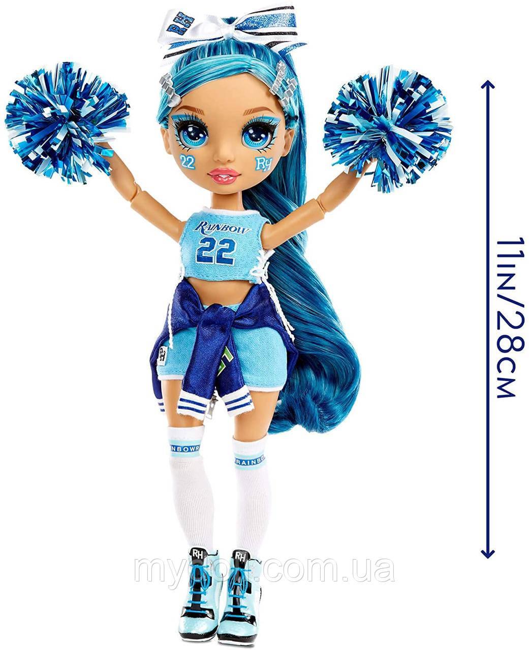 Кукла Рейнбоу Хай Скайлар Брэдшоу Чирлидер - Rainbow High Cheer Skyler Bradshaw Blue Cheerleader 572077